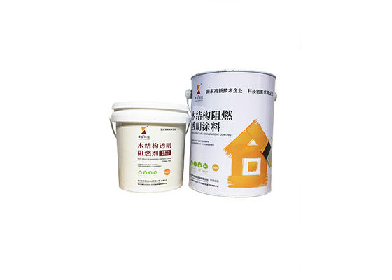 China Transparent 20 Minutes Fireproof Coating , Fire Retardant Varnish For Wood Timber OSB supplier