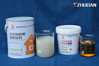China Transparent Water Based Fire Retardant Paint For Exterior Wood Doors Timber Cladding supplier