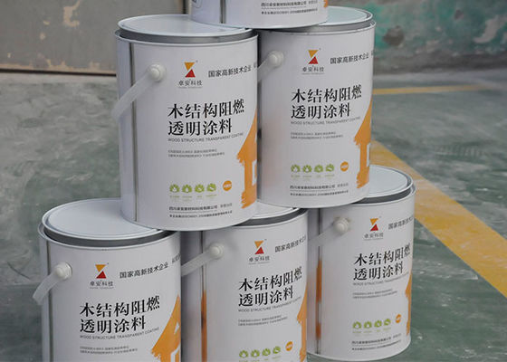 Transparent Clear Exterior Fire Retardant Paint For Wood Timber Doors 15 Minutes