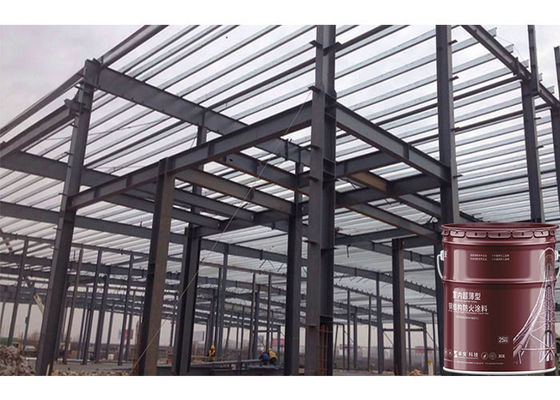 China 3 Hours  Intumescent Paint Fireproof coating UL listed For Steel Beams Cementitious paint with UL certification