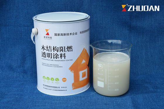 China Anti Fire White Intumescent Fireproof Paint For Wood Timber Transparent 8 Hours Drying factory